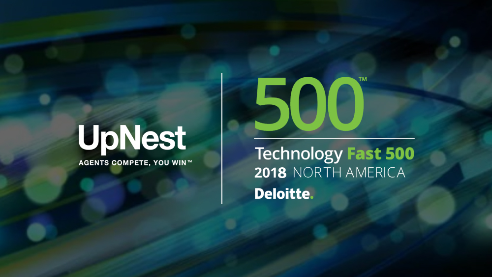 UpNest Ranks #85 on Deloitte's 2018 Technology Fast 500™ Award List